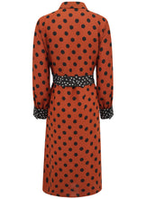 Ex Evans Polka Dot Midi Shirt Curve Dress