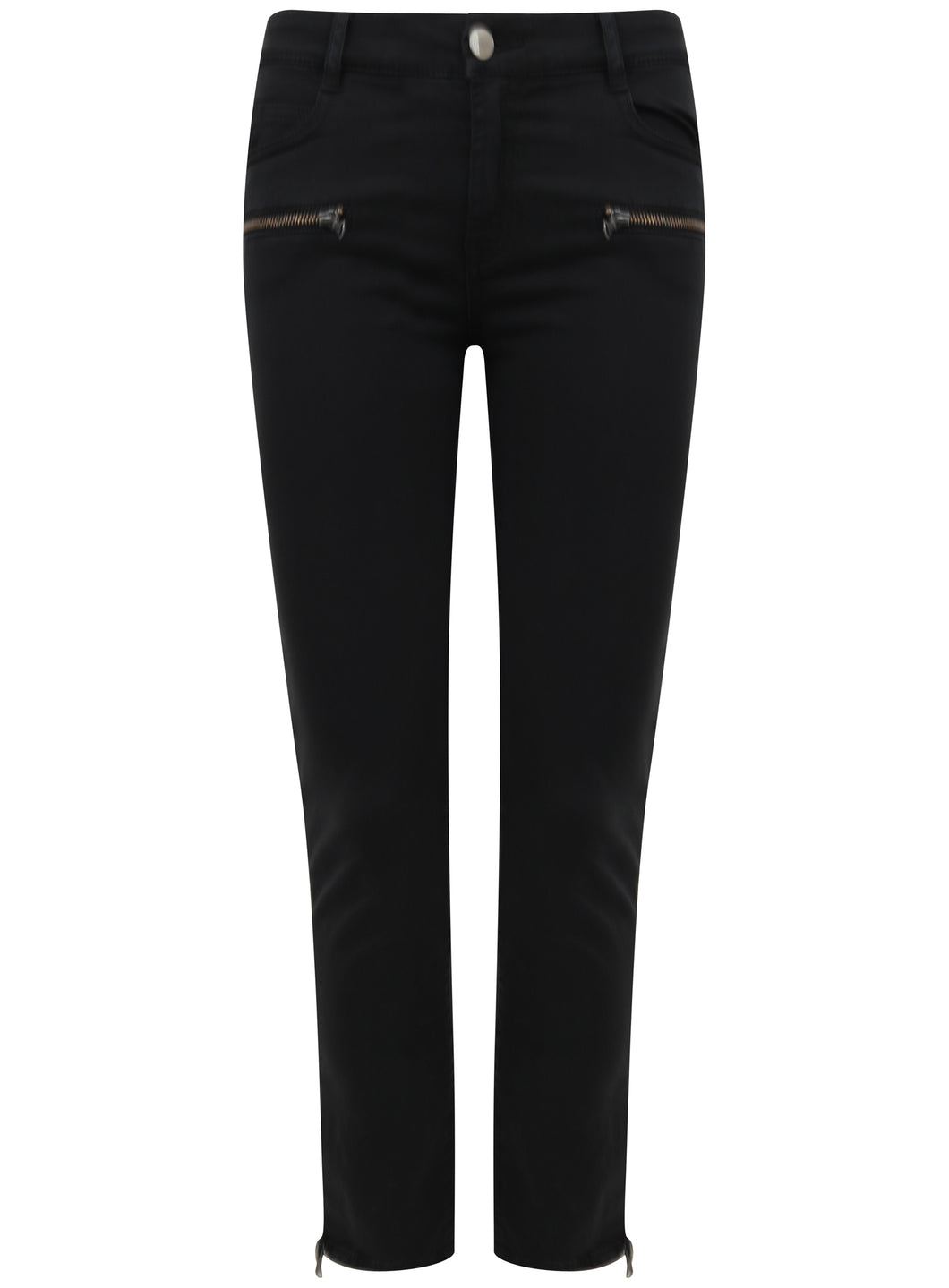 Ex Mango Stone Skinny jeans Front Zip Detail