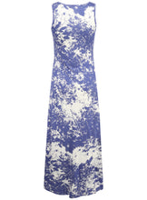 Ladies Smudge Print Sleeveless Summer Maxi Dress