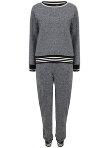 Ex Marks And Spencer 2 Piece Grey Tracksuit Set Sweatshirt Joggers