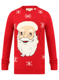 Ex H&M Santa Claus Mens Red Christmas Xmas Novelty Jumper