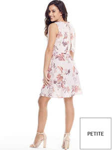 Ex V by Very Petite Floral Printed Summer Tiered Dress Size 10-16
