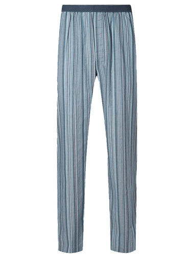 Ex Marks And Spencer Pure Cotton Striped Long Mens Pyjama Bottoms