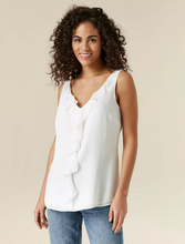 Ex Wallis Ivory Ruffle Front Camisole Sleeveless Blouse Top