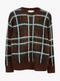 Ex Warehouse Brushed Check Jumper Brown