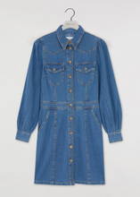 Ex Warehouse Western Mini Denim Long Sleeve Dress