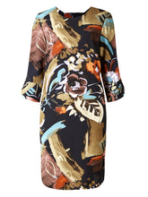 Ex Marks & Spencer Bar Back Abstract Smudge Print Tunic Dress Size 6-22