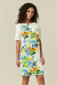 Ex Wallis White Abstract Floral Print Shift Dress