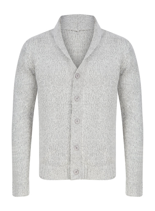 Mens Button Through Knitted Heavyweight Warm Cardigan