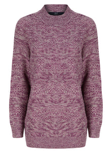 Ladies Textured Winter Knit Jumper 3 Colours