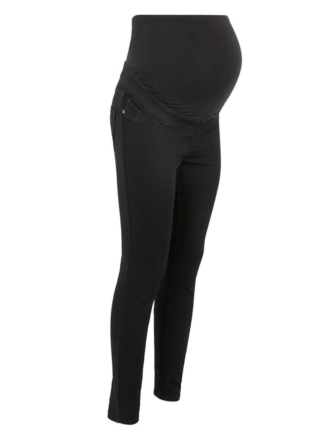 Ex Chainstore Maternity Over Bump Black Lift & Shape Jeggings Jeans