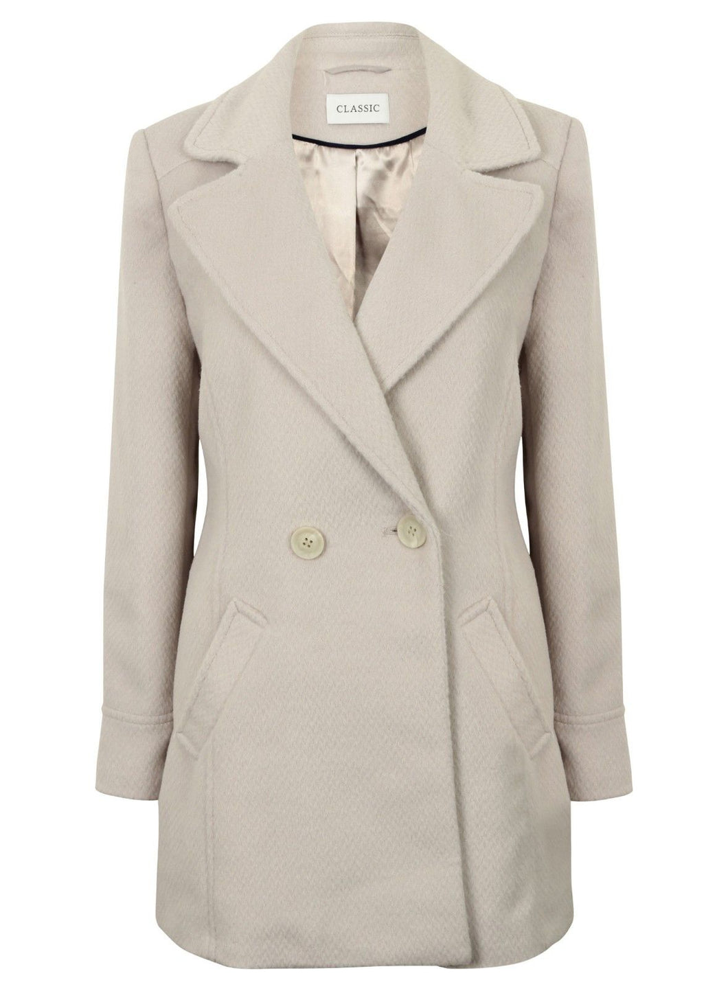Ex Marks And Spencer Collection Cream Jacket Coat