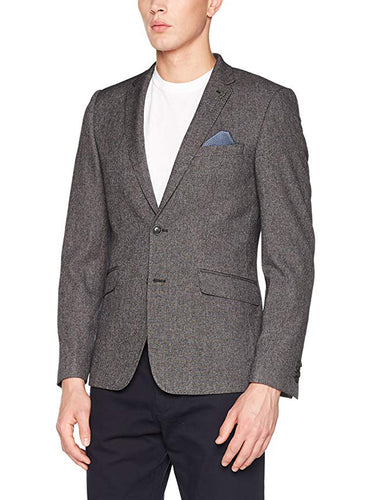 Ex Burton Menswear London Grey Skinny Fit Suit Jacket Size 34-50