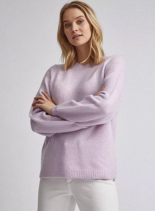 Ex Dorothy Perkins Bow Back Jumper Lilac / Cream