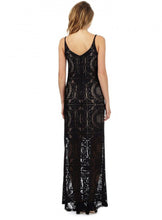 Ex Star by Julien Macdonald Debenhams Black Lace Maxi Dress