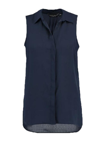 Ex Dorothy Perkins Sleeveless Navy Women's Shirt Blouse
