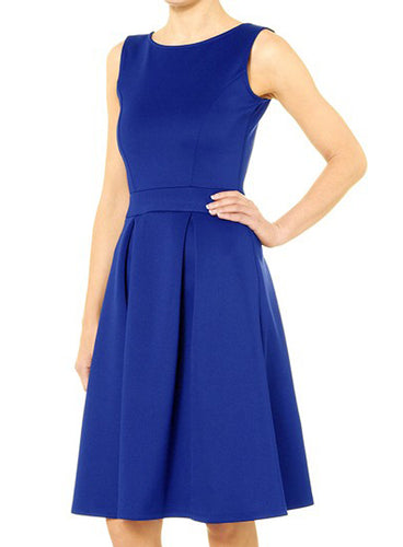 Ex Dorothy Perkins Blue Scuba Fit & Flare 50s Skater Dress