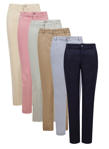 Ex Esprit Ladies Coloured Cotton Chino Trousers with Pockets
