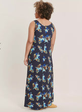 Ex Evans Plus Size Navy Floral Print Maxi Dress