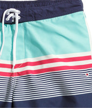 Ex H&M Striped Pattern Blue White Green Swimshorts Size S-XL