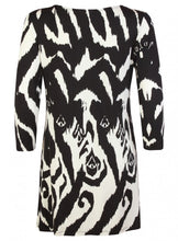 Ex Wallis Print 3/4 Sleeve Animal Print Tunic Blouse Dress