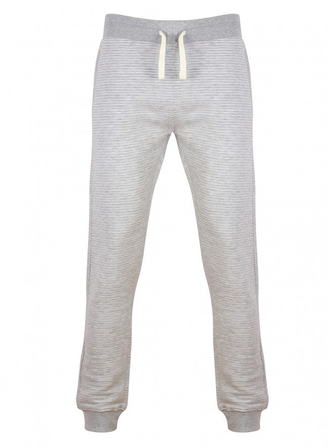 Ex Topman Grey White Stripe Ribber Jogging Tracksuit Bottoms