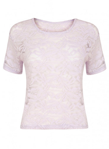 Ex Miss Selfridge Lilac Lace Top Size 4-16