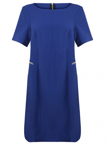 Threads Simply Be Blue Short Sleeve Plus Size Zip Front Dress