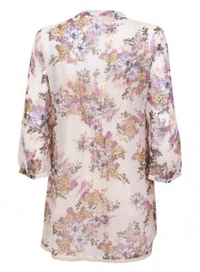 Ex Marks And Spencer Button Up Floral Twinset Cami Blouse