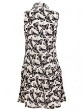 Butterfly Print Peter Pan Collar Sleeve Dress Tunic