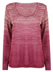 Ex Next Long Sleeve Pink Sequin Jumper knitwear Top