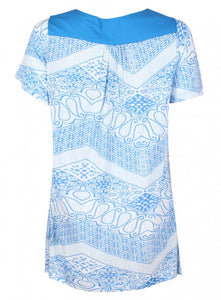 Ex Tommy & Kate Blue & White Top Paisley Blouse