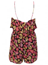 Ex Atmosphere Strappy Black/Pink Chiffon Floral Playsuit Blouse