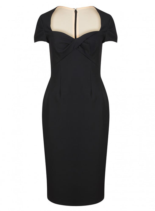 Ex Debenhams Black Bodycon Sweetheart Neckline Party Dress