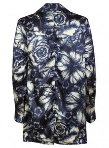 Ex Atmosphere Long Sleeve Blue Floral Print Waterfall Blazer Jacket