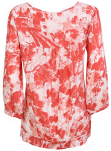 Ex Per Una 3/4 Sleeve Orange Floral Blouse Top