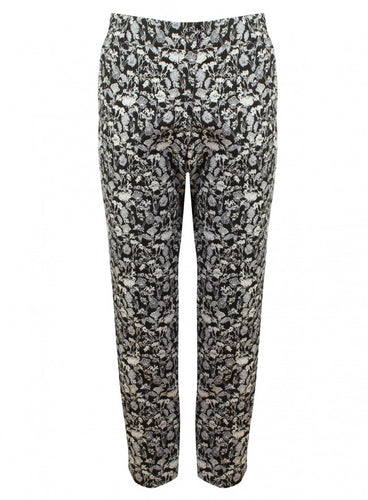 Ex Miss Selfridge Ladies Black White Floral Trousers