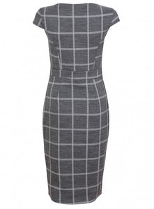Ex Dorothy Perkins Grey Wiggle Pencil Midi Dress