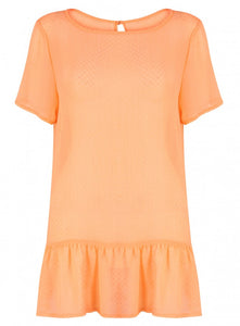 Threads Simply Be Short Sleeve Orange Blouse Top Plus Size