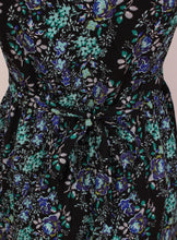 Floral Print Sleeveless Tunic Dress