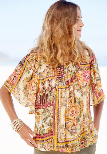 Ex M&CO Plus Size Embroidered Mesh Top Cami Twinset Ivory