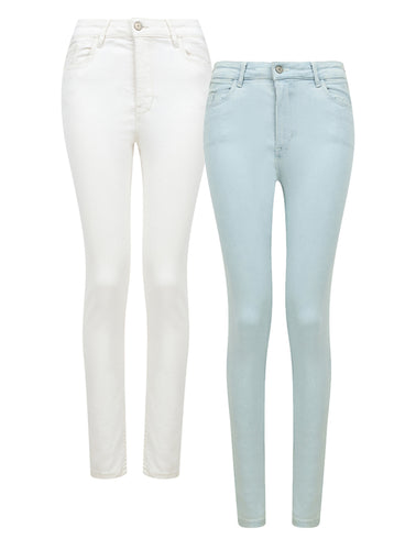 Ex Mango High Waist Skinny Stretch Denim Jeans