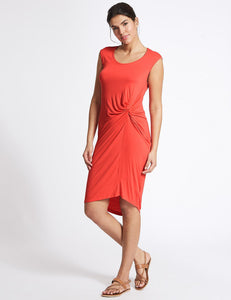 Ex Marks And Spencer Collection Twist Knot Detail Beach Dress
