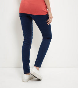 Ex Highstreet Maternity Blue Under Bump Supersoft Skinny Jeans