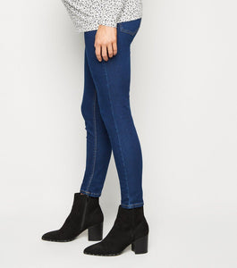 Ex Chainstore Maternity Over Bump Dark Indigo Lift & Shape Jeggings Jeans
