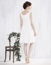 Ex Monsoon Primrose Floral embroidery Dress Ivory