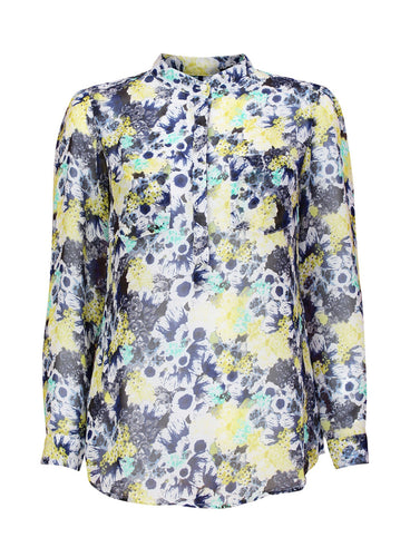 Ex Next Long Sleeve Floral Print Button Up Blouse Shirt Size 8-18