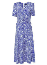 Ex Wallis Blue Pebble Spot Print Midi Dress