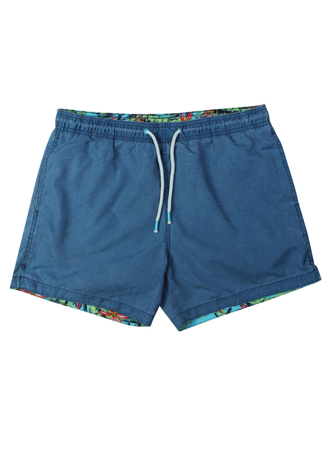 Ex H&M Mens Light Blue Print Swim Shorts Mesh Lining Size XS-XL
