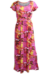 Ex Tommy & Kate Pink Yellow Red Floral Summer Long Maxi Beach Dress